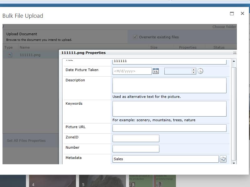 Bulk File Upload - Set managed field metadata for bulk files