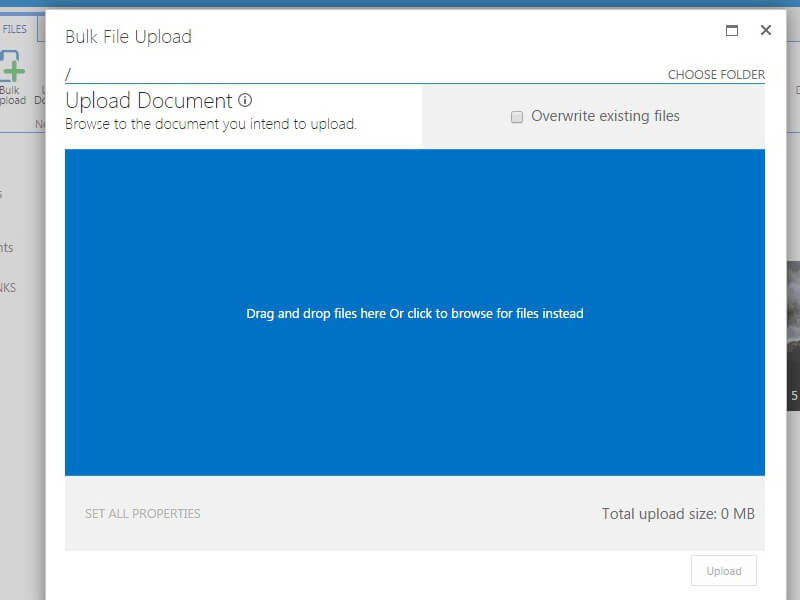Html5 Bulk File Upload - Upload bulk files to SharePoint document libraries