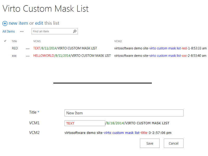 Custom Mask and Unique Field - Create pre-defined masks and unique values fields