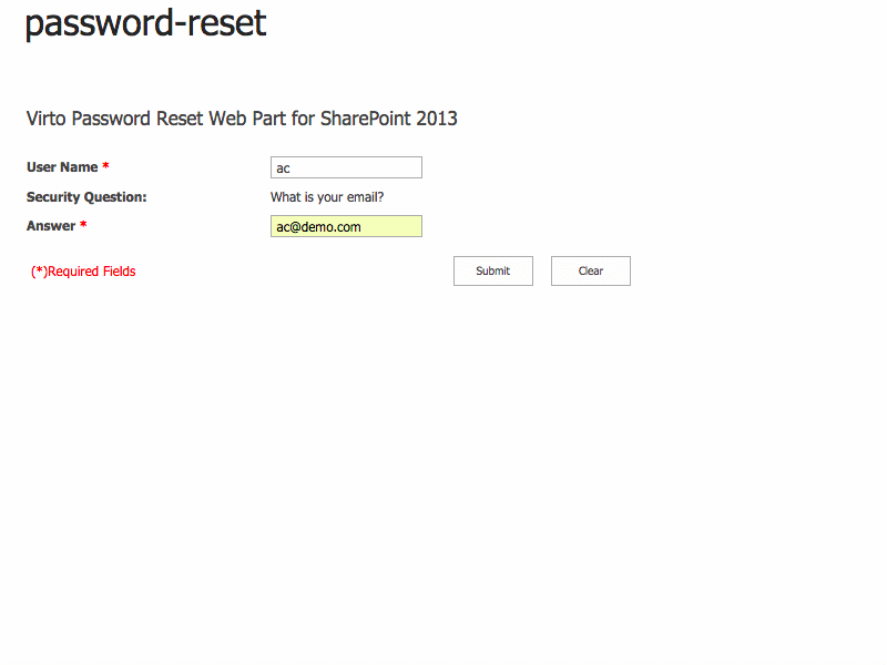 Password Reset and Recovery - Two convenient ways of working with Sharepoint Password Reset