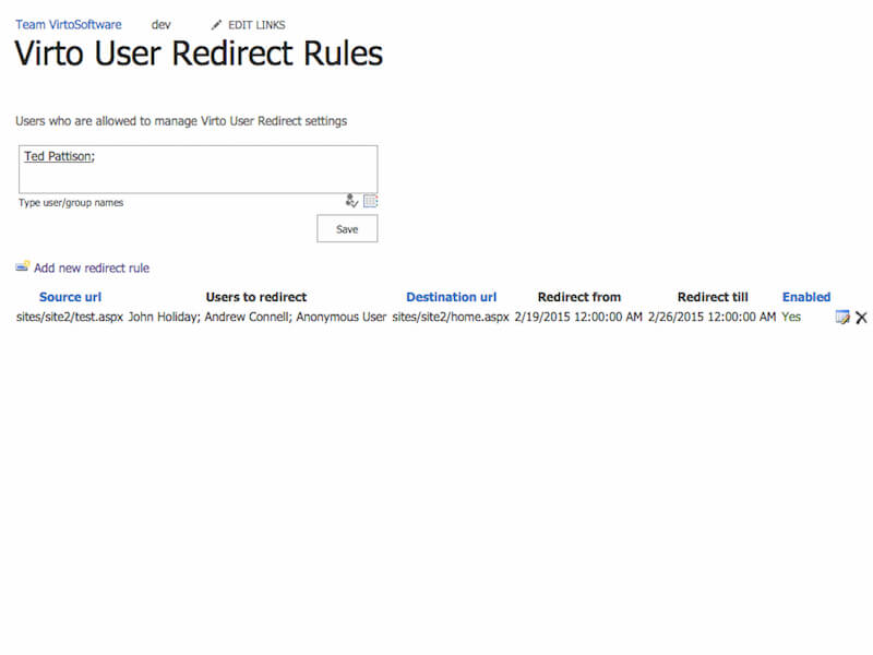 User Redirect Web Part - Automatic redirecting of SharePoint users