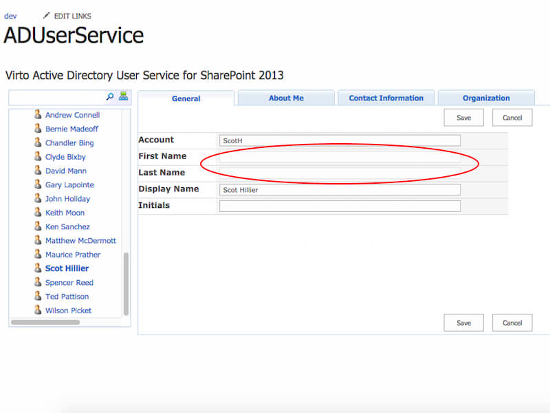 AD User Profile Service - View and edit other Sharepoint users' Active Directory profiles