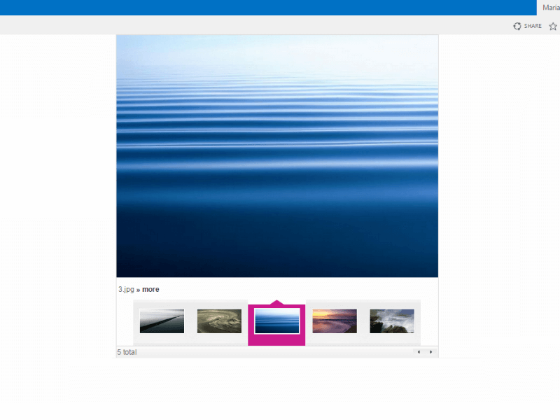 Image Slider Web Part - Several sliding engines