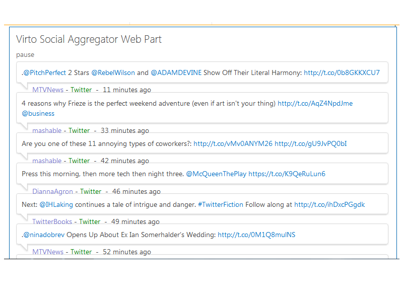 Social Aggregator Web Part - Working fast and safe