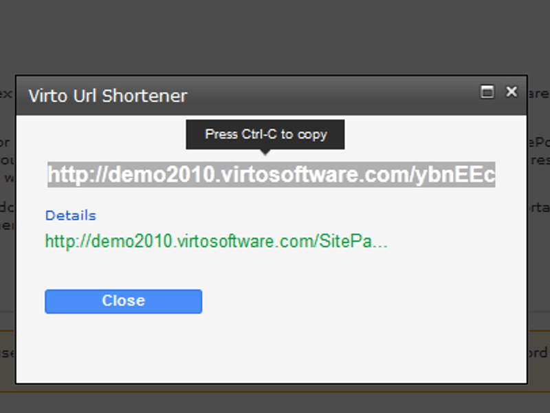 URL Shortener  - Automatic cut of URL