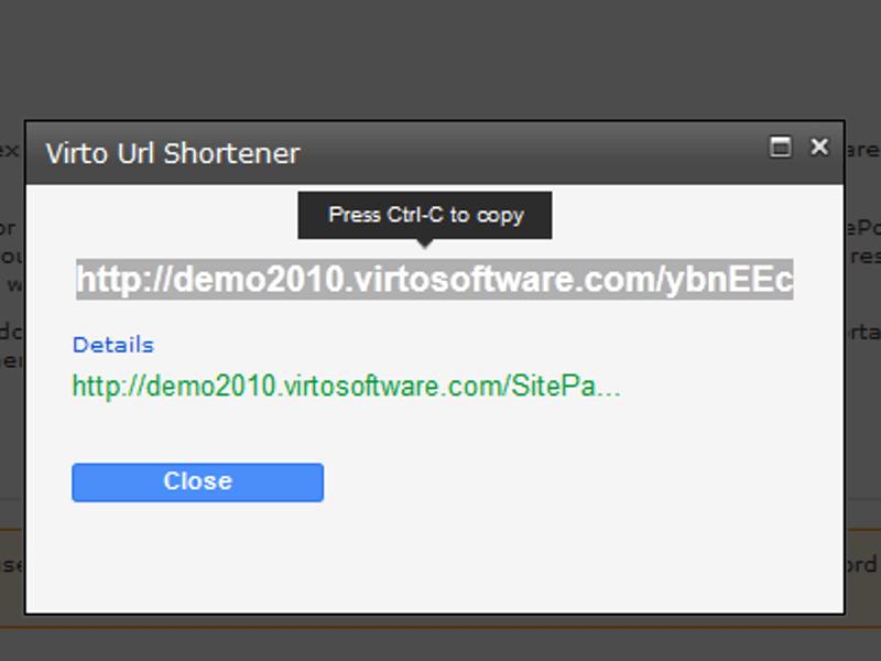 URL Shortener  - Automatic cut of URL