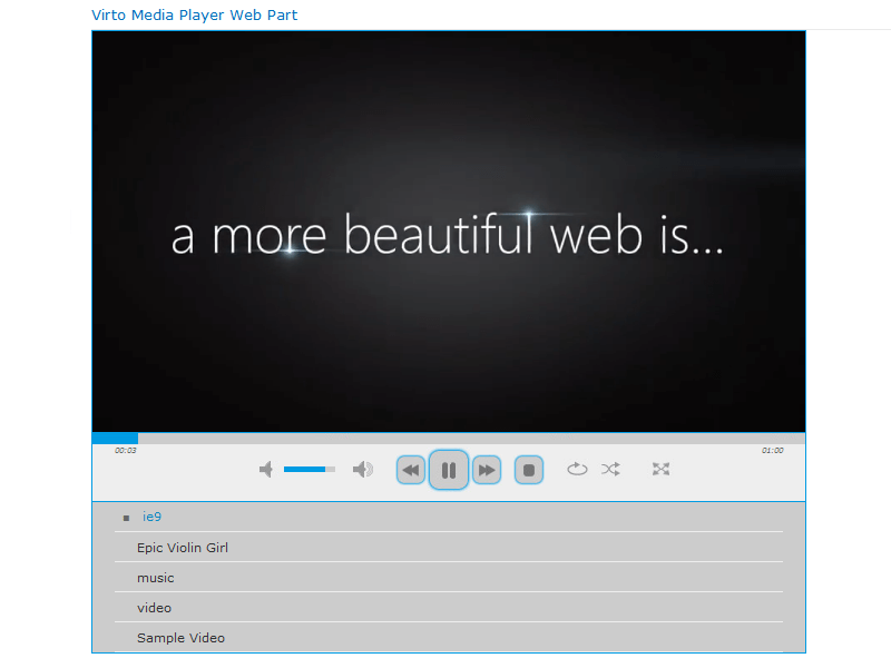 Media Player Web Part - Play video and audio files from a SharePoint site