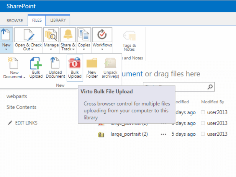Bulk File Upload - Upload bulk files to SharePoint lists and document libraries