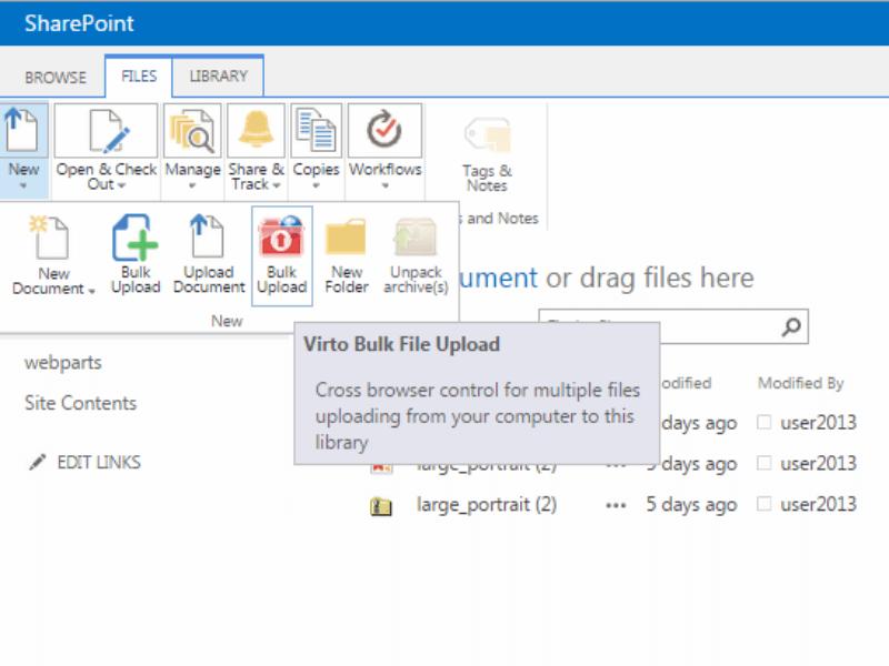 Sharepoint bulk file upload web part virtosoftware for Download document link sharepoint