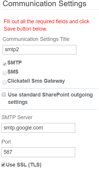 SMTP - SharePoint Alerts and Reminders Web Part via Email & SMS