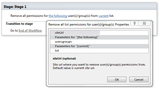 remove all list permissions for user s group s office 365