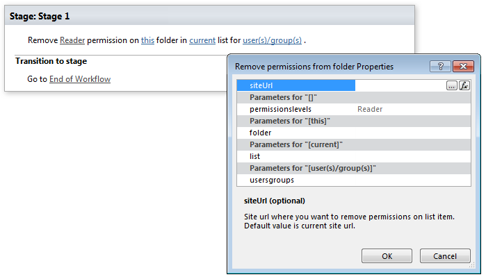 remove permissions from folder office 365 workflows for sharepoint