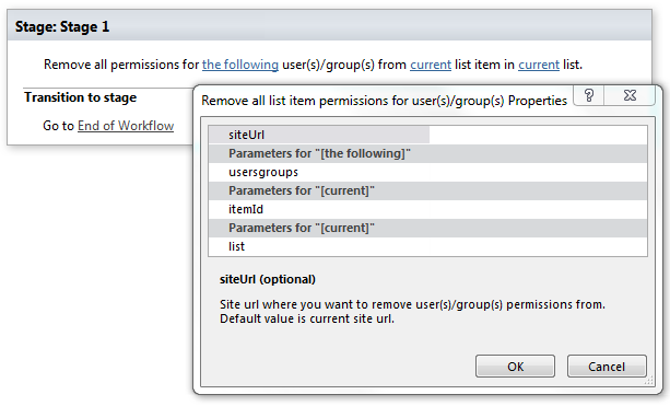 remove all list item permissions for user s group s office 365