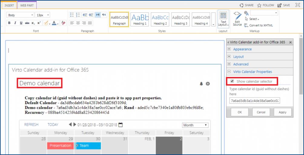 Virto Updates of Calendar App and Alerts & Reminders App
