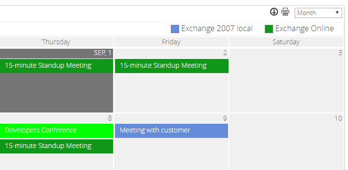 SharePoint 2013 calendar web part and SharePoint 2016 calendar web ...