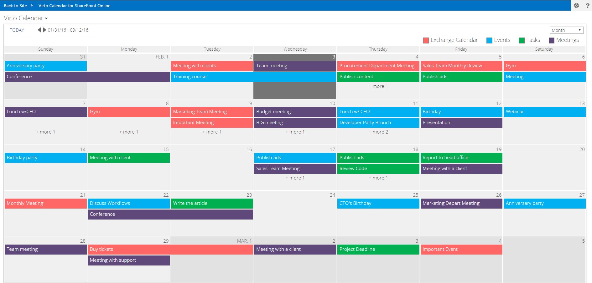 Sharepoint Online Calendar Update Virtosoftware News